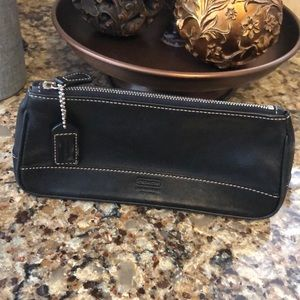 Coach leather zippered case